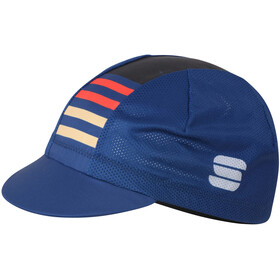 Sportful Mate Cap Heren, blue twilight fire red gold